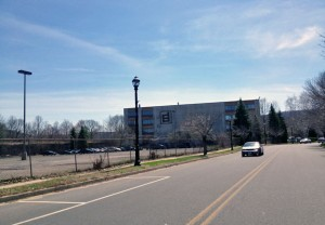 Naugatuck is looking to lease the parking lot at General DataComm as well as the building, both seen here. Officials say someone is interested in leasing space in the building, and that they are in discussions with people about possibly leasing the parking lot. –RA ARCHIVE