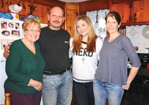 From left, Gail Skinner, Jeff Skinner, Ashley Norton and Nancy Skinner pose for a picture in Gail Skinner's house in Naugatuck. Norton is currently in need of a kidney transplant and is hoping to find a live donor that will help her out. –LUKE MARSHALL