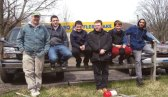 Boy Scouts from Troop 109 in Naugatuck take a break after the troop's annual Good Friday yard cleanup at the Naugatuck Elks Lodge April 18. -CONTRIBUTED