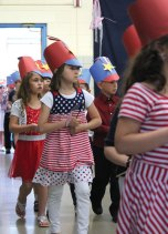 Algonquin School first-graders held their annual Memorial Day ceremony May 23 at the school in Prospect.-ELIO GUGLIOTTI
