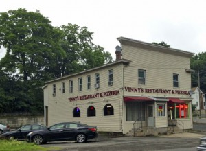 The building that houses Vinny's Restaurant and Pizzeria on Prospect Street in Naugatuck could be torn down to make way for a gas station, convenience store and a Dunkin' Donuts. Plans are pending with Naugatuck land use boards. –RA ARCHIVE
