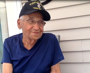 Earl Chellis of Beacon Falls, 90, was in the first wave of men to land on Omaha Beach on D-Day, June 6, 1944. –RA ARCHIVE