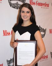 Krystie Seese of Naugatuck was awarded a full tuition scholarship to any online graduate degree program offered by Post University through the Miss Connecticut Scholarship Corporation at the organization's annual awards brunch June 29. Seese, who is the current Miss Greater Watertown title holder, was selected the winner of the scholarship by a pageant committee based on her work experience, college transcript, resume and essay creation. Seese has completed two bachelor's degrees in four years at Southern Connecticut State University and served as an intern teacher in Middlebury. –CONTRIBUTED
