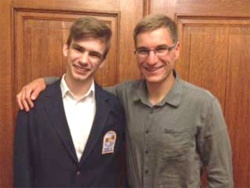 The Naugatuck Rotary has been hosting foreign exchange students and sending students aboard since the 1960s. David Garahan, left, is leaving for Germany in August for the school year 2014-15. Julius Shöebel, right, is the club's current inbound student from Germany. Shöebel attended Naugatuck High School for the 2013-14 school year. Shöebel stayed with three different host families (the Newmans, Slausons and Goggins) and in soccer, swimming and tennis. Currently Mitchell Slauson, not pictured, is in Germany and planning on returning to Naugatuck in August. For more information about hosting an exchange student, contact Ginger Fennell at GFennell@ionbank.com, (203) 720-5318 or (203)723-8526. –CONTRIBUTED