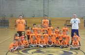 A half-day basketball clinic was the week of July 14 for children ages 5 to 8 at Woodland Regional High School in Beacon Falls. –CONTRIBUTED