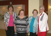 Linda Lawson of Naugatuck was welcomed recently as a new member of the Trumbull-Porter Chapter, Daughters of the American Revolution, during its annual meeting in Southbury. Pictured, from left, Trumbull-Porter Chapter DAR Chaplain Rev. Jody Guerrera, Lawson, Registrar Freda Carreiro of Watertown and Chapter Regent Katie Gabrielson of Naugatuck. –CONTRIBUTED