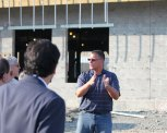 The new Prospect Elementary School is taking shape quickly. Dave Christoforo, a project manager with Turner Construction, led Region 16 officials and members of the school building committee on a tour of the project's progress Aug. 5. The project is on schedule to be 'water-tight,' when the outside is finished, by Halloween. The school, which will replace Community and Algonquin schools, is set to open for the 2015-16 school year. -ELIO GUGLIOTTI