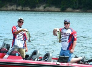 Naugatuck resident Noah Winslow, left, and Oxford resident Doug Marino, both Nonnewaug High School students, teamed up this year to win the Connecticut State Championship in Bass Master Nation's new high school division. –CONTRIBUTED