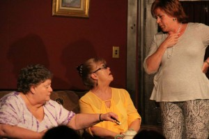 From left, Donna Storms, Helen Adams and Colleen Renzullo perform a scene from 'The Cemetery Club' at the Phoenix Stage Company in Naugatuck. The play closes this weekend. –CONTRIBUTED