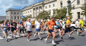 Runners participate in the 2013 Bob Veillette 5K Road Race and Walk in Waterbury. This year's race will be held Saturday at 8:30 a.m. –CONTRIBUTED