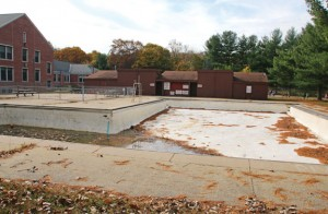 The Hop Brook pool in Naugatuck will be filled in after a proposal to bond $1 million to fix it was rejected Nov. 4. –FILE PHOTO