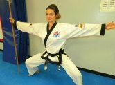 Jessica O'Connor of Naugatuck was promoted to rank of 4th dan Associate Master in Cheezic Tang Soo Do Karate Oct. 9 at USA Martial Arts in Naugatuck. –CONTRIBUTED