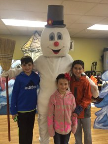 Prospect residents, from left, Nicholas Christiano, Corinne Melisky and Nicholas Santovasi are preforming in the Landmark Student Theatre's production of 'Frosty the Snowman' Dec. 12 at the Strand Theatre in Seymour and Dec. 19 and Dec. 20 at the Thomaston Opera House in Thomaston. -CONTRIBUTED
