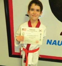 Logan Ander-Hucalak of Naugatuck was promoted to apprentice Black Belt at USA Martial Arts in Naugatuck Nov. 19. -CONTRIBUTED