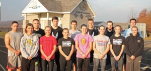 The Woodland indoor track team will be led by seniors, front row from left, Ava Capuano, Lisa Thrasher, Kailyn Accetura, Clara Drozdowski, Haleigh Resnick, Kelsey Mitchell, Lauren Lombardo; back row from left, Nicholas Giammattei, Paul Pronovost, James Laliberte, Jeff Giusto, Colton Cronin, Ryan Soda, Jeff Webster and (missing from photo) Brandon Clifford. –ELIO GUGLIOTTI