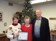 Dianne (Dooling) Conway, center, was recently honored as Mrs. Naugatuck 2015. Conway, 69, has lived in Naugatuck her entire life and graduated from Naugatuck High School. Conway was recognized 'as an individual who continues to bring joy to her family and friends while not allowing personal struggles to keep her from having a smile on her face.' Pictured with Conway are Marilee Murdock, left, and Naugatuck Mayor N. Warren 'Pete' Hess. –CONTRIBUTED