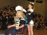 Administrators at Woodland Regional High School accepted the ice bucket challenge Dec. 23 during a pep rally at the school in Beacon Falls as part of a fundraiser for the ALS Association. Wolcott High School Principal Joe Monroe issued the challenge, a movement that promotes awareness of amyotrophic lateral sclerosis or Lou Gehrig's Disease, to Woodland Principal Kurt Ogren in the fall. Ogren, Dean of Students Chris Decker, Assistant Principal and Athletic Director Brian Fell, and Assistant Principal Dana Mulligan accepted the challenge. The Woodland Student Government sold raffle tickets to students for the chance to dump water on one of the administrators. Ogren also challenged the administrative team at Naugatuck High School to take the ice bucket challenge next. –LUKE MARSHALL
