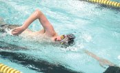 Woodland's Chase Chura competes in the 200 freestyle versus Holy Cross Feb. 9 in Beacon Falls. –ELIO GUGLIOTTI