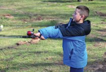 Christian Maestri, 8, of Prospect, casts his line out in hopes of catching a fish during the Prospect Parks and Recreation's 9th Annual Fishing Derby at McGrath Park April 16. –LUKE MARSHALL