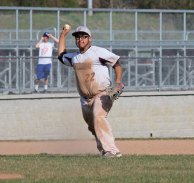 Naugatuck's Joe Kwaak (22) throws to first for an out versus Fairfield Ludlowe April 21 in Naugatuck. –ELIO GUGLIOTTI
