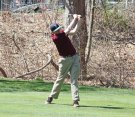 Naugatuck's Colin Sheedy tees off on the first hole at Hop Brook Golf Course in Naugatuck Monday versus O'Brien Tech. –ELIO GUGLIOTTI