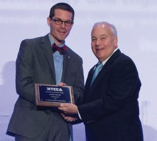 Darien High School Technology and Engineering Education Department Coordinator Jeromy Nelson, of Naugatuck, received the Connecticut Technology Education and Engineering Teacher of the Year award from the International Technology and Engineering Education Association. Neslon was honored as one of 30 teachers from across the U.S. to receive a Teacher Excellence Award recently during the association's annual conference in Washington D.C. –CONTRIBUTED
