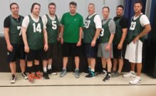 The Green Machine won Prospect's Friday Night Men's League. The team, which went 8-1 in the regular season, beat The Clams in the best of three playoff series. Pictured, from left, Nick Clemente, Chris Mondak, Bez Murtishi, Jayson Douthwright, Emmett O'Connor, Ryan Smith, Tom Boulay and Rob Fourtier. –CONTRIBUTED