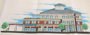 A rendering of the proposed medical office building to be built on Parcel C in downtown Naugatuck. –LUKE MARSHALL