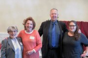 Naugatuck mayor N. Warren 'Pete' Hess was the guest speaker at the Naugatuck Woman's Club luncheon in April. Pictured, from left, President Laura Smith, Chairman of the June Luncheon Virginia Zapatka, Hess and Shelby Lineweber. -CONTRIBUTED
