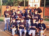 The Union City Little League Braves won the Union City Majors championship by beating the Nationals, and the Mayor's Cup by beating the A's of Peter J. Foley Little League. Pictured, Kal-Curton, Andrew Tyszka, Tyler Stankey, Dylan Sepulveda, Landon Sarno, Matt Nofri, Anthony Shivas, Brady Evon, Alex Sosa, Ryan Tyszka, Don Shivas, Mike Sosa, Mark Nofri, Ed Tyszka, and Don Shivas. –CONTRIBUTED