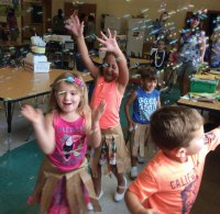 Students at Naugatuck's Early Childhood Center at Central Avenue Preschool celebrated Hawaiian Luau Week recently during the school's Sensational Summer Camp. The six-week camp features activities tailored to meet specific educational benchmarks while remaining differentiated to engage each child's strengths and challenges. –CONTRIBUTED