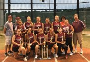 Naugatuck defeated the Watertown Rapids, 9-5, July 29 at Municipal Stadium in Waterbury to win the Joan Joyce Softball Championship. Pictured, knelling from left, Julia Pelliccia, Molly Kennedy, Lauren Burns, Sandra Dinis, Jackie Aronin; standing from left, manager Rick Pelliccia, coach Steve Litke, Jasmine Thorpe, Taylor Valentine, Katie Jones, Julia Joyce, Maddie Jensen (MVP), manager Leigh Aronin, Taya Diaz and coach Mike DiMaria. Missing from photo, Shannon Burns, Jenna Massicotte and Briana Tavares. –CONTRIBUTED
