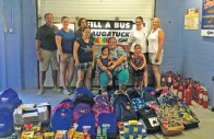 Student Transportation America held its second annual Back to School Drive Aug. 14 to collect items for Naugatuck students. The drive, led by bus drivers Krizti Marin and Jess Wynman, collected more than 86 filled backpacks and more than $4,000 in donations. The team also made 17 bags for a pre-kindergarten program. –CONTRIBUTED