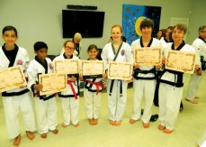 Members of USA Martial Arts in Naugatuck were recently promoted. Pricilla Nascimento, Deepak Prakash, Natalia Lizak and Leah Quijano were promoted to 1st Dan Black Belt. Sarah O'Bryan was promoted to 2nd Dan Black Belt. Erik Wrogg and Ben Meleschnig were promoted to 3rd Dan Black Belt. –CONTRIBUTED