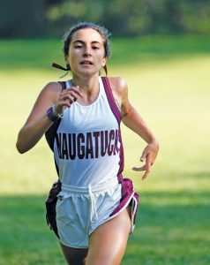 Naugatuck's Lauren Stankiewicz has won all three meets so far this season. –RA ARCHIVE