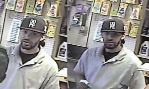 Naugatuck police are looking for this man who they say used stolen credit cards at multiple businesses in Naugatuck and Shelton. –CONTRIBUTED