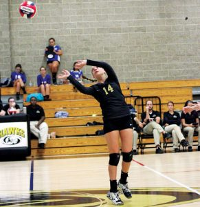 Maddie Hupprich and Woodland will look to defend their NVL title when tournament action begins Saturday. –FILE PHOTO