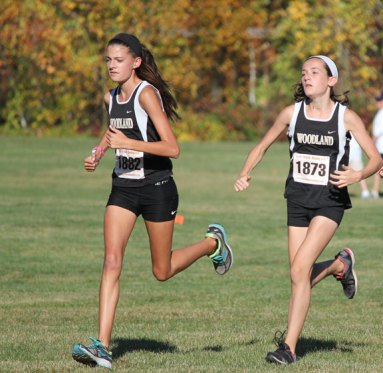 The Woodland boys and girls cross country teams both took third place at the NVL cross country championships Oct. 19 at Veterans Park in Watertown. –ELIO GUGLIOTTI