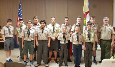 Boy Scout Troop 115 of Naugatuck hosted a Court of Honor Nov. 7 to honor scouts that have advanced in rank. –CONTRIBUTED
