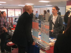 Naugatuck High School hosted a college fair April 4 for students to meet and talk with representatives from dozens of colleges, universities and other programs. –CONTRIBUTED