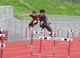 Naugatuck's Aren Seeger qualified for the New England championship meet in Norwell, Mass. on Saturday in the 300 hurdles. –FILE PHOTO