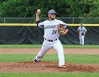 Naugatuck's Steve Marinaro delivers a pitch against Trumbull during the first round of Class LL tournament Tuesday at Naugatuck High School. Naugatuck won the game, 4-0. –LUKE MARSHALL