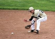 Woodland's Jarrett Allen fields a ground ball at second base May 10 against Naugatuck at Woodland Regional High School in Beacon Falls. –ELIO GUGLIOTTI