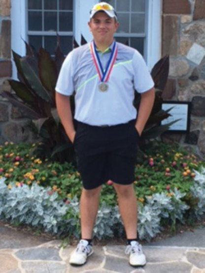 Joshua Hassan, a rising junior at Woodland Regional High School, shot an 84 and finished in second place at the annual Nutmeg State Games on July 16 at Stanley Golf Course in New Britain. -CONTRIBUTED