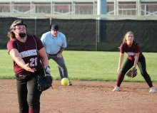 Naugatuck's Alyssa Roberts delivers a pitch versus Jonathan Law during a Class L quarterfinal game June 1 at Naugatuck High School. Jonathan Law won, 5-2. -ELIO GUGLIOTTI