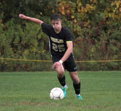 Dante Polletta and his identical twin brother Devon have been playing soccer together since they were very young. In their senior year at Woodland, the twins are two of the four captains for the Hawks. –ELIO GUGLIOTTI