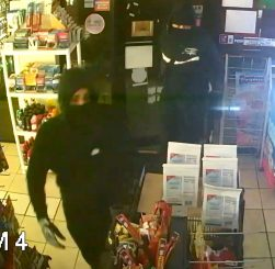 Naugatuck police released this surveillance photo of two men who broke into the Sunoco gas station at 531 North Main St. Tuesday morning. -CONTRIBUTED