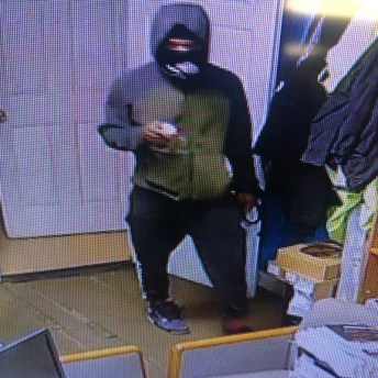 Naugatuck police released this surveillance photo of a suspect in a burglary on Tuesday at Sibby's Automotive. –CONTRIBUTED