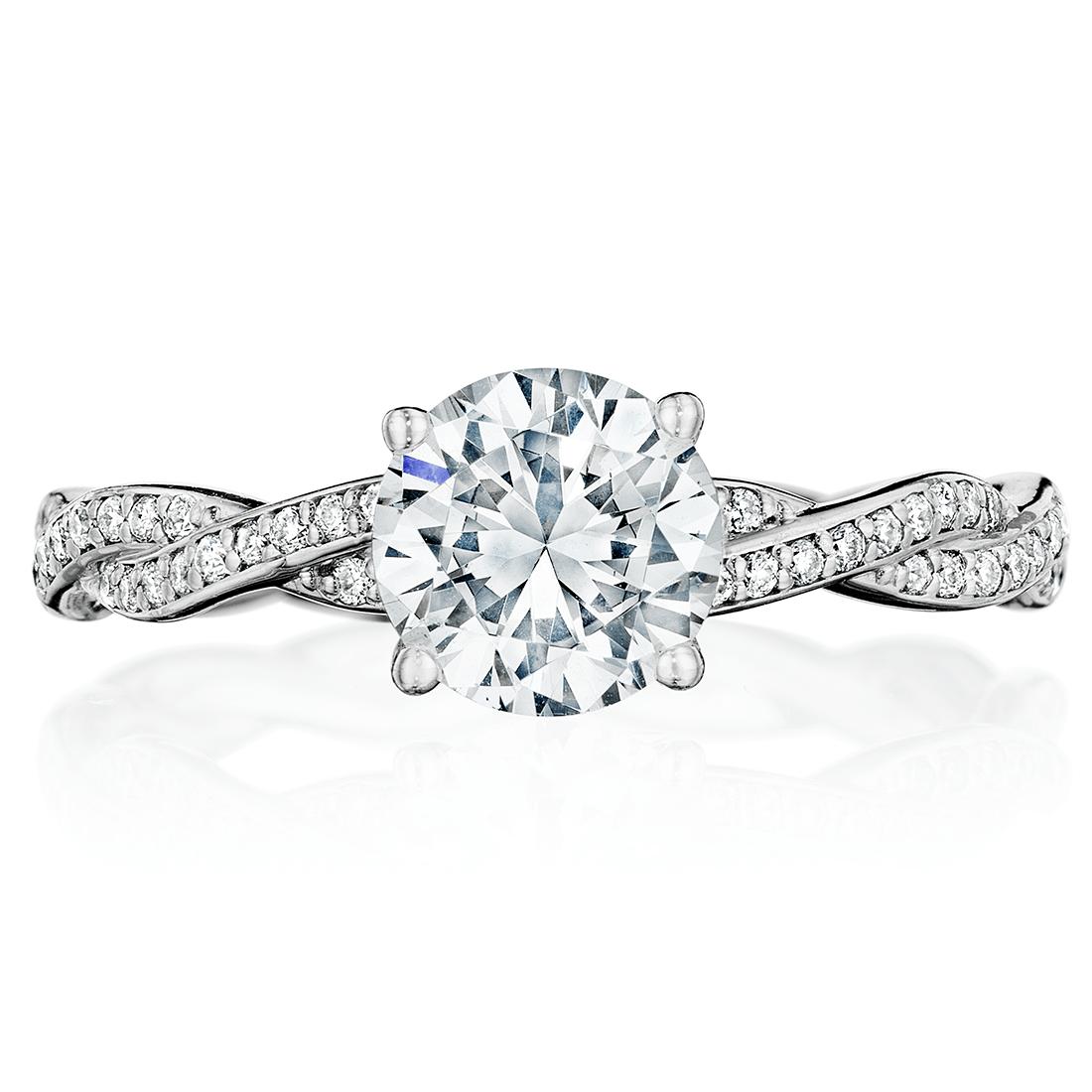 Mini Twist Pave Engagement Ring