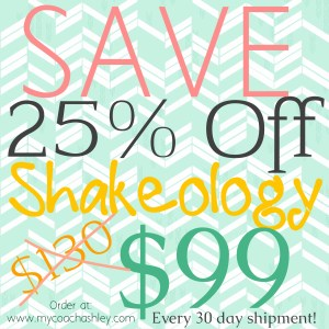 Save 25% off Shakeology